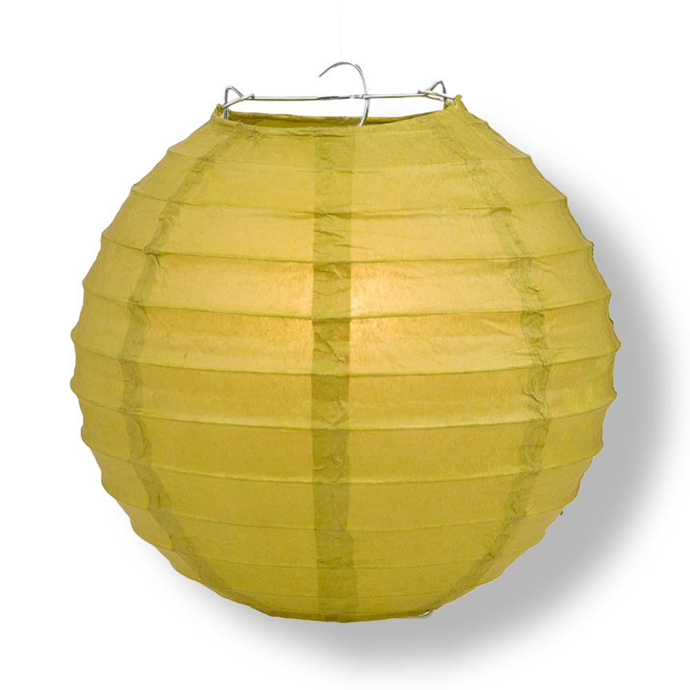 "14"" Pear Round Paper Lantern, Even Ribbing, Chinese Hanging Wedding & Party Decoration"