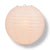 "8"" Rose Quartz Pink Round Paper Lantern, Even Ribbing, Chinese Hanging Decoration for Weddings and Parties"