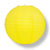 "BULK PACK (6) 42"" Yellow Jumbo Round Paper Lantern, Even Ribbing, Chinese Hanging Wedding & Party Decoration"