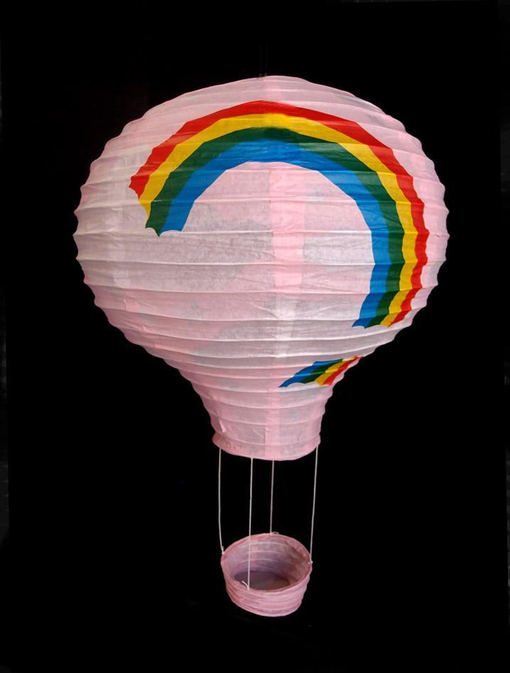 Pink Rainbow Hot Air Balloon Paper Lantern (100 PACK) - AsianImportStore.com - B2B Wholesale Lighting and Décor
