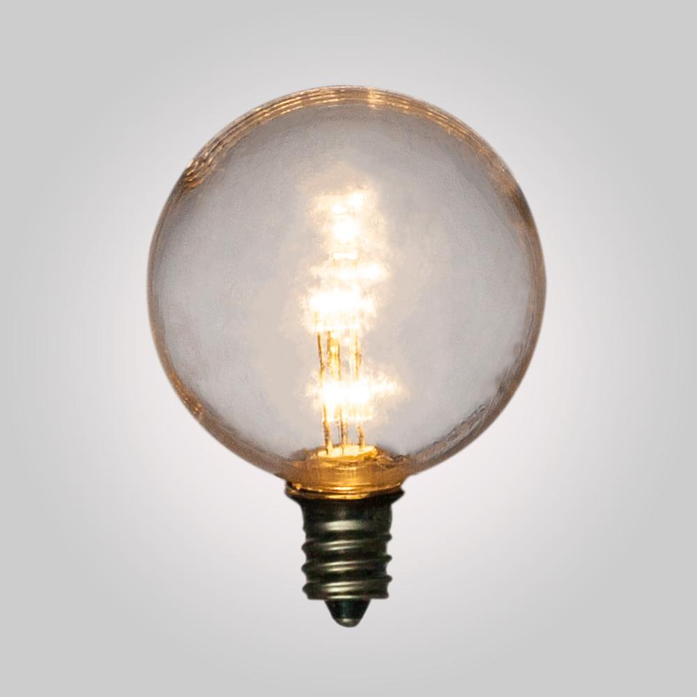 Warm White .5-Watt LED G40 Globe Light Bulb, Shatterproof, E12 Candelabra Base - AsianImportStore.com - B2B Wholesale Lighting and Decor