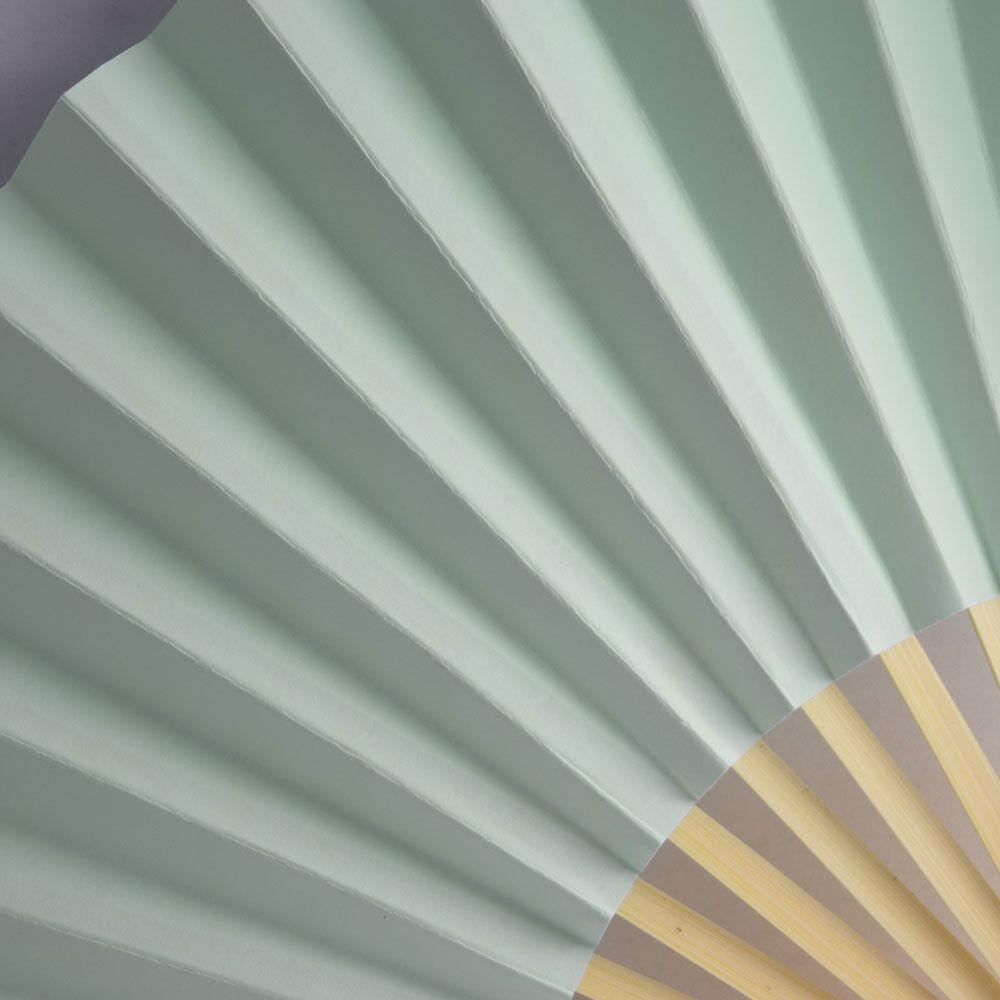 "9"" Arctic Spa Blue Paper Hand Fans for Weddings, Premium Paper Stock (10 Pack) - AsianImportStore.com - B2B Wholesale Lighting and Decor"