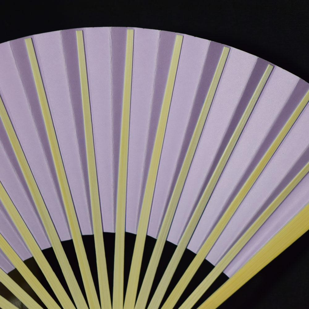 "9"" Lavender Paper Hand Fans for Weddings, Premium Paper Stock (10 Pack)"