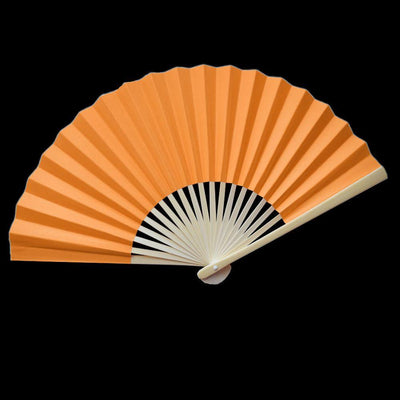 "9"" Orange Paper Hand Fans for Weddings, Premium Paper Stock (10 Pack) - AsianImportStore.com - B2B Wholesale Lighting and Decor"