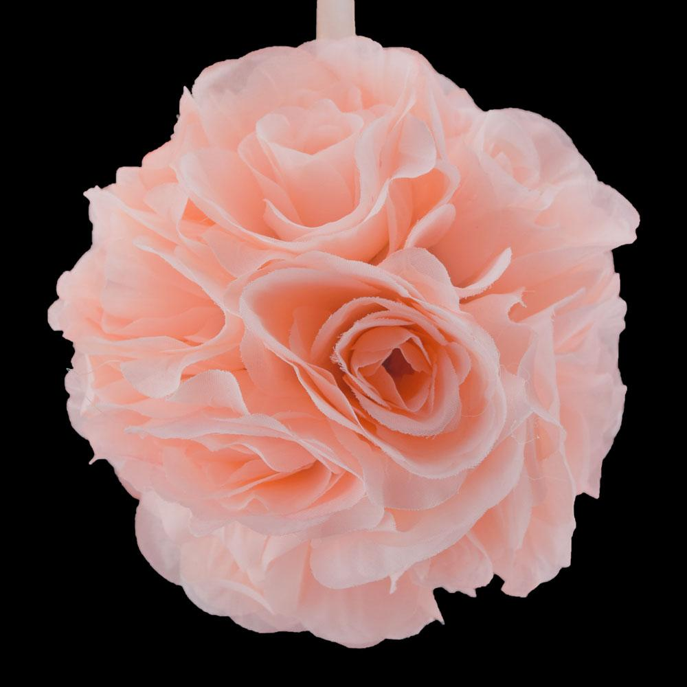 "BLOWOUT 6"" Rose Quartz Pink Rose Flower Pomander Small Wedding Kissing Ball for Weddings and Decoration"