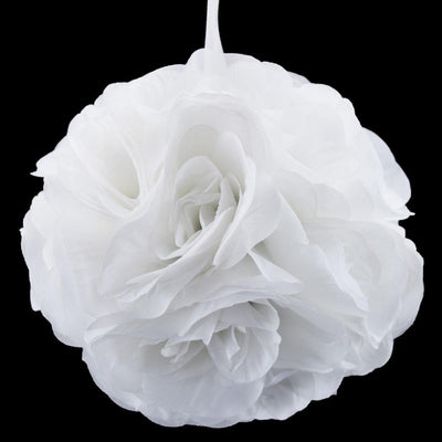 "BLOWOUT 6"" White Rose Flower Pomander Small Wedding Kissing Ball Decoration"