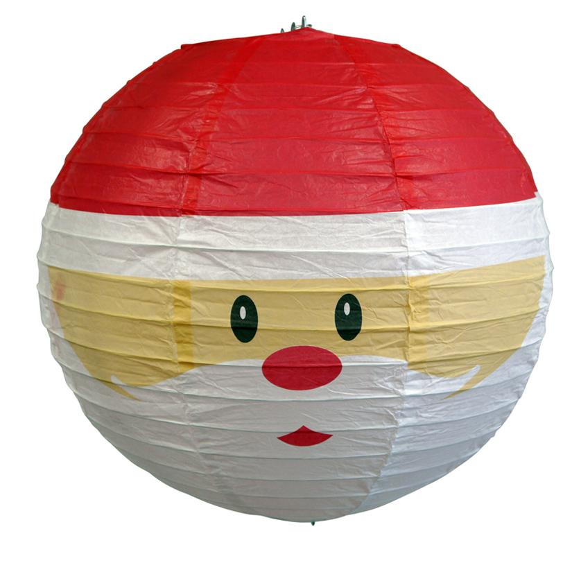 "14"" Santa Claus Christmas Holiday Paper Lantern"