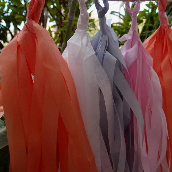 Tissue Paper Tassel Garland Kit - Powder Mix (100 PACK) - AsianImportStore.com - B2B Wholesale Lighting and Décor