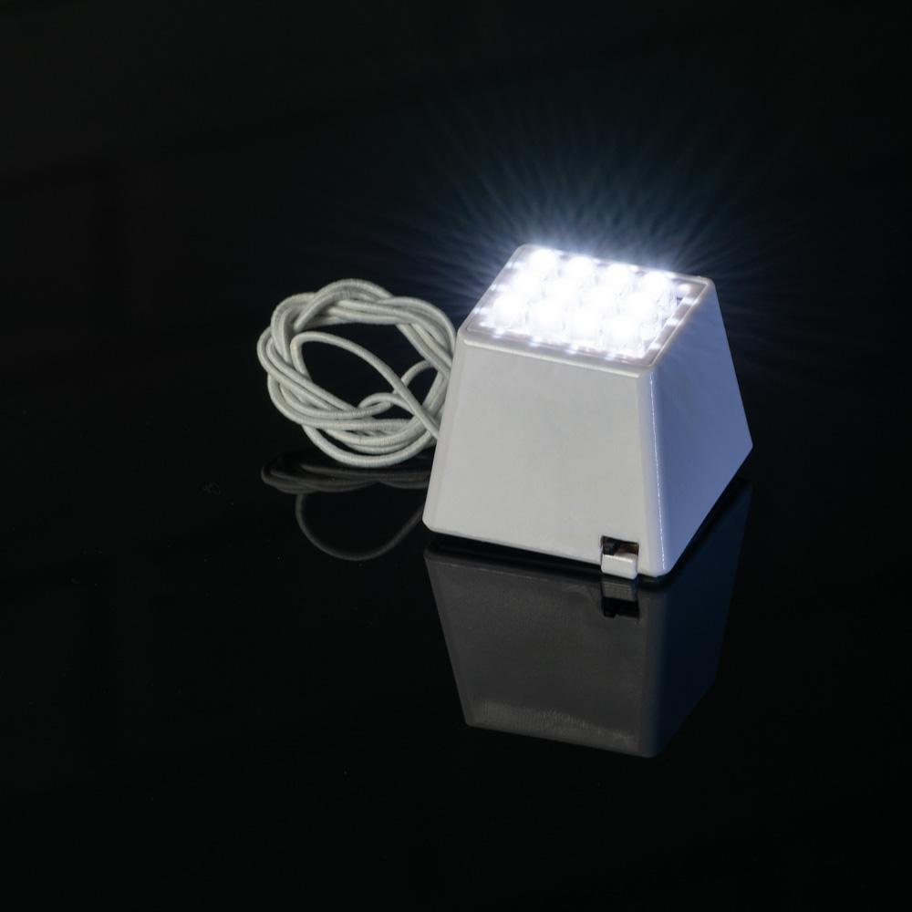 Fantado MoonBright™ 12-LED Super Bright Cube Light For Lanterns, Cool White (Battery Powered)