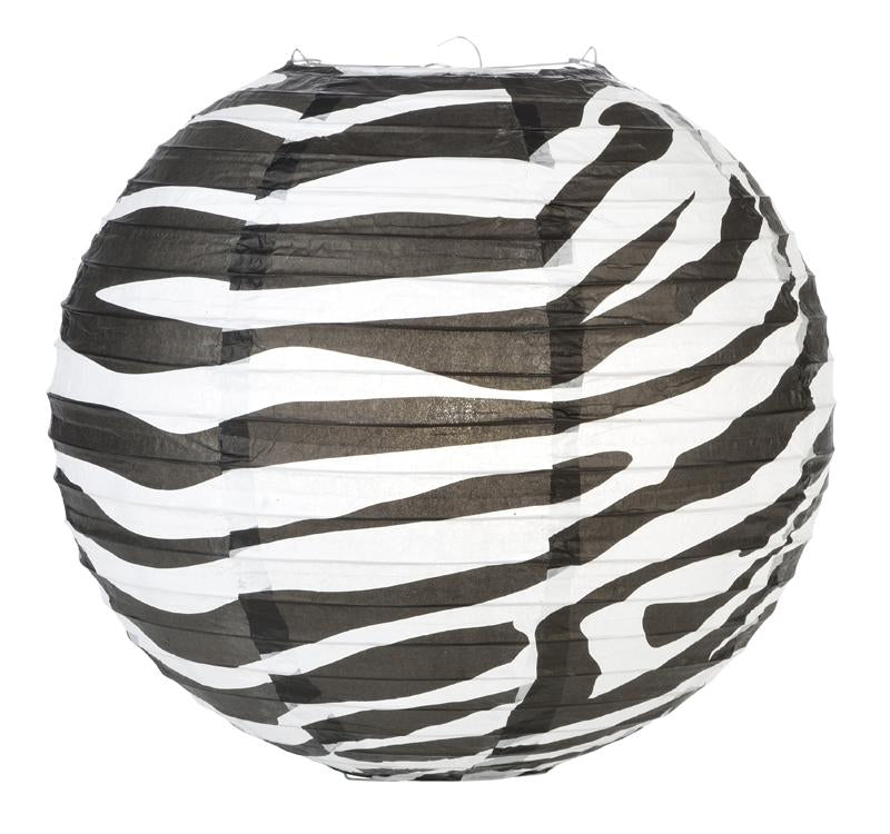 "14"" Zebra Print Paper Lantern - AsianImportStore.com - B2B Wholesale Lighting and Decor"