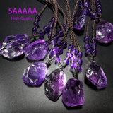 "5AAAAA High Quality Natural Uruguayan The best Amethyst Pendant ""Imperial purple""20-30mm"
