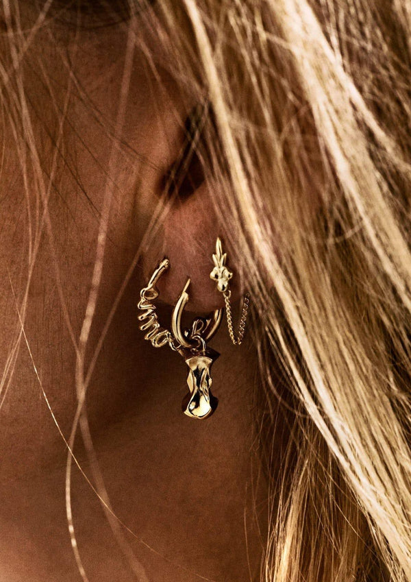 Eden Chain Earring Goldplated