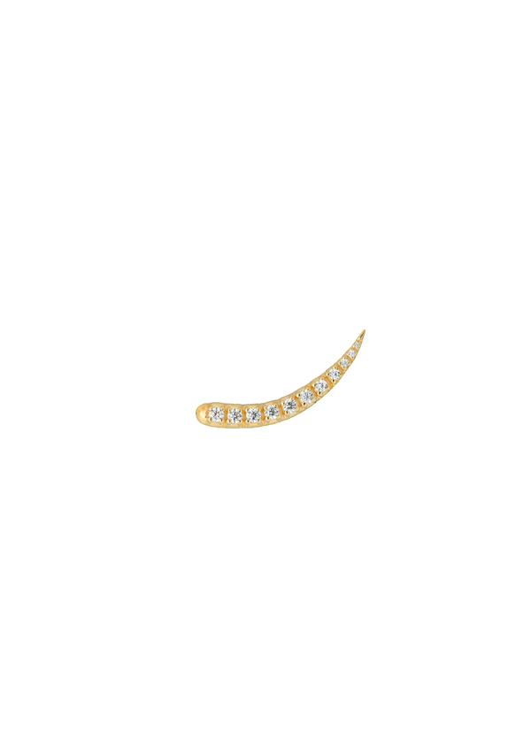 Single Zirconia Sparkle Hook Goldplated
