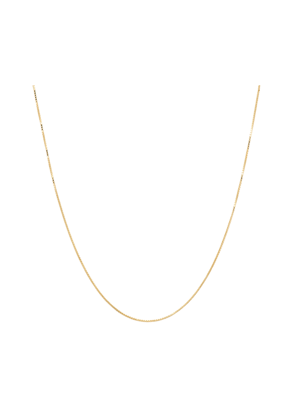 Square Plain Necklace Long Goldplated
