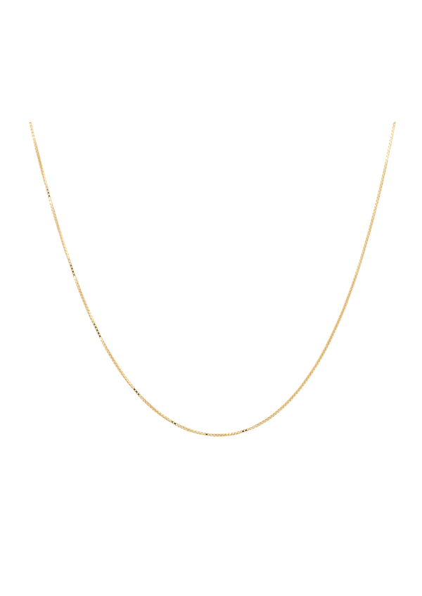 Square Plain Necklace Short Goldplated