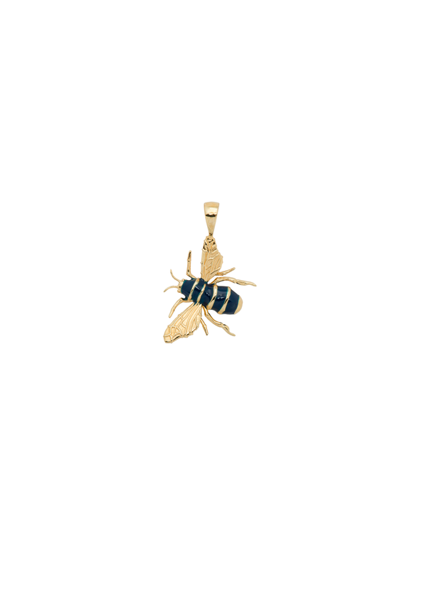 Honey Bee Necklace Charm Goldplated