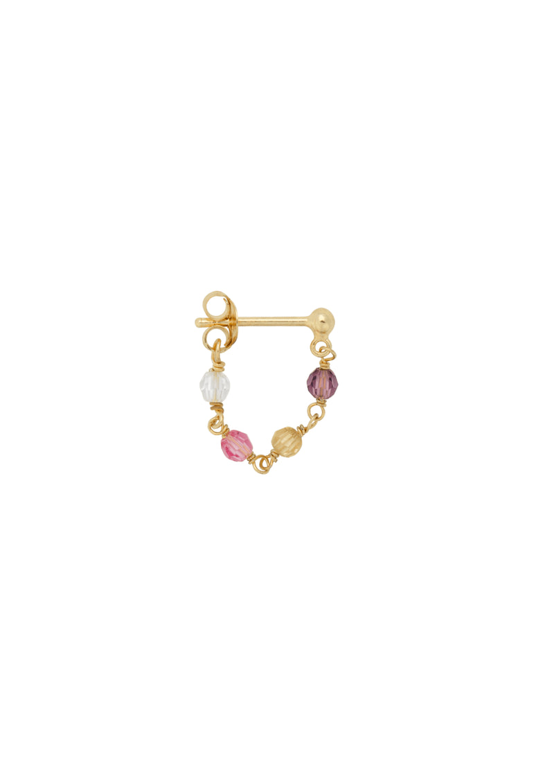 Single Confetti Chain Earring GP