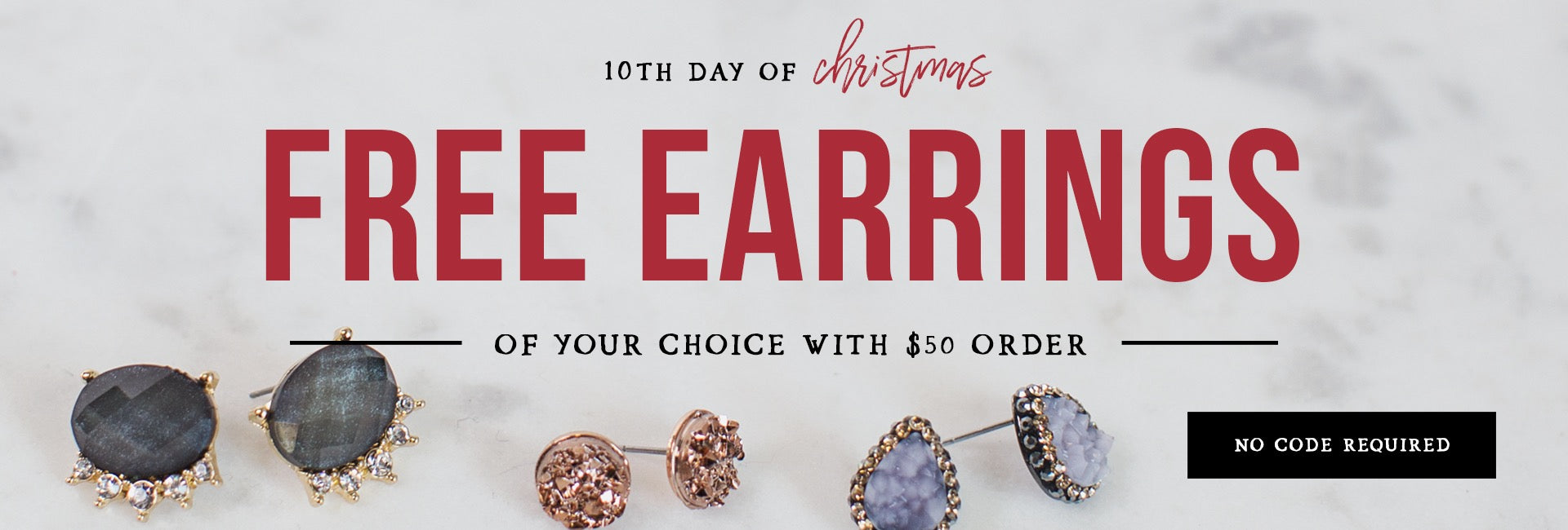 On the 9th Day of Christmas buy 1 item get 1 at 50% off!