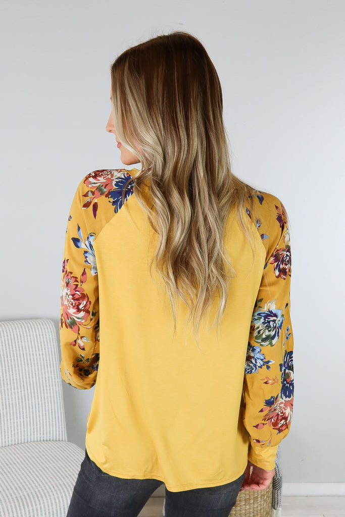 Brittany Floral Sleeve Top