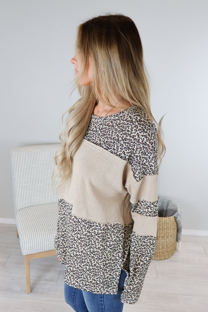 Wild Animal Contrast Top