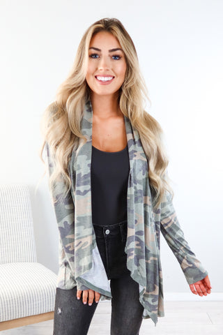 Barracks Camo Colorblock Top - 2 Colors