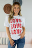 Love x3 Graphic Tee