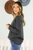 Waffle V Neck Thermal - 2 Colors