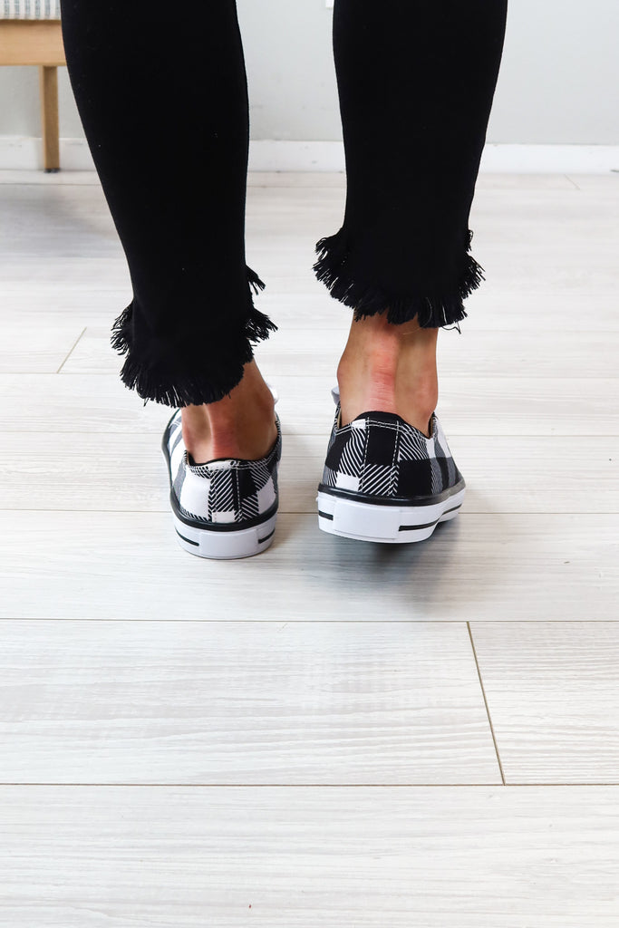 Buffalo Plaid Sneaker - 2 Colors