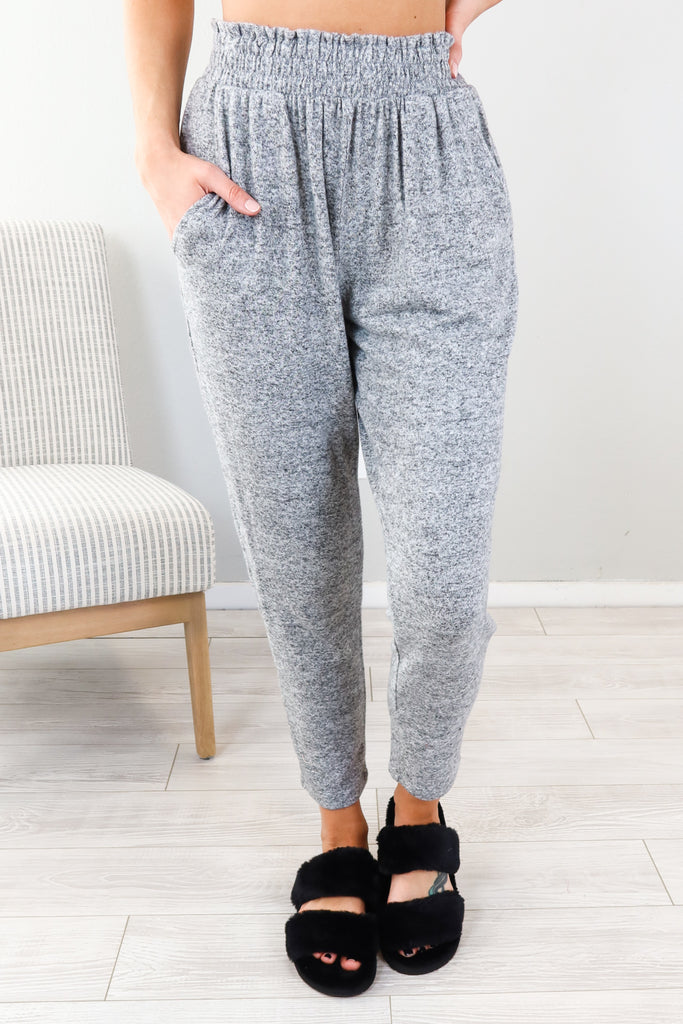 Cropped Brushed Joggers