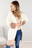 Wave Colorblock Knit Cardigan