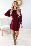 Basic Holiday Sweater Dress - 4 Colors