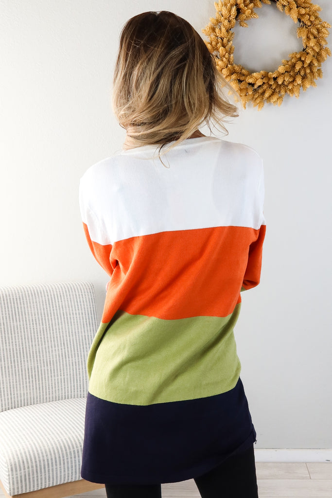 Giving Thanks Colorblock Cardigan