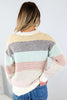 Rainbow Colorbock Striped Sweater- Restock! Will ship 11/2.