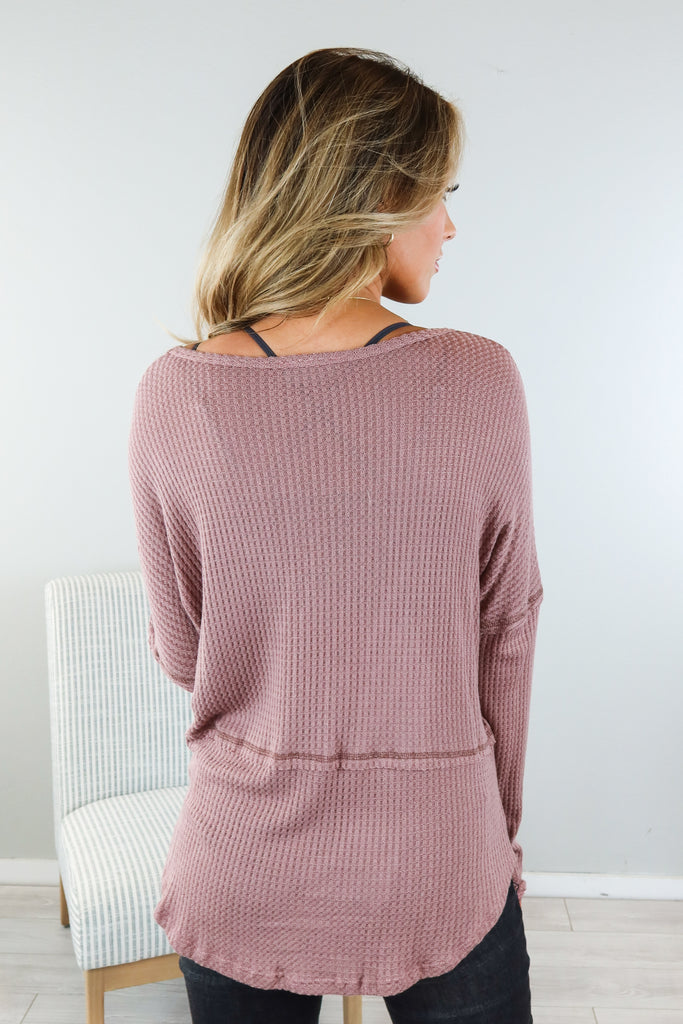 Favorite Song Waffle Top - 2 Colors