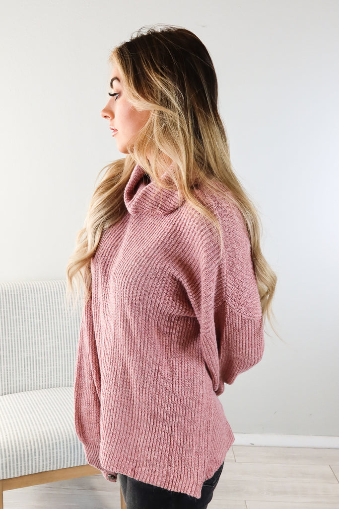 Wendy Button Accent Turtle Neck - 3 Colors