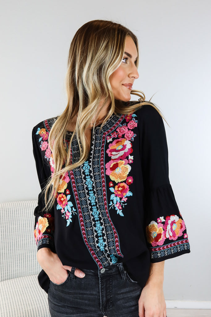 Janis Embroidered Tunic Top