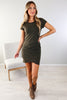 Only You Ruched Dress - 3 Colors
