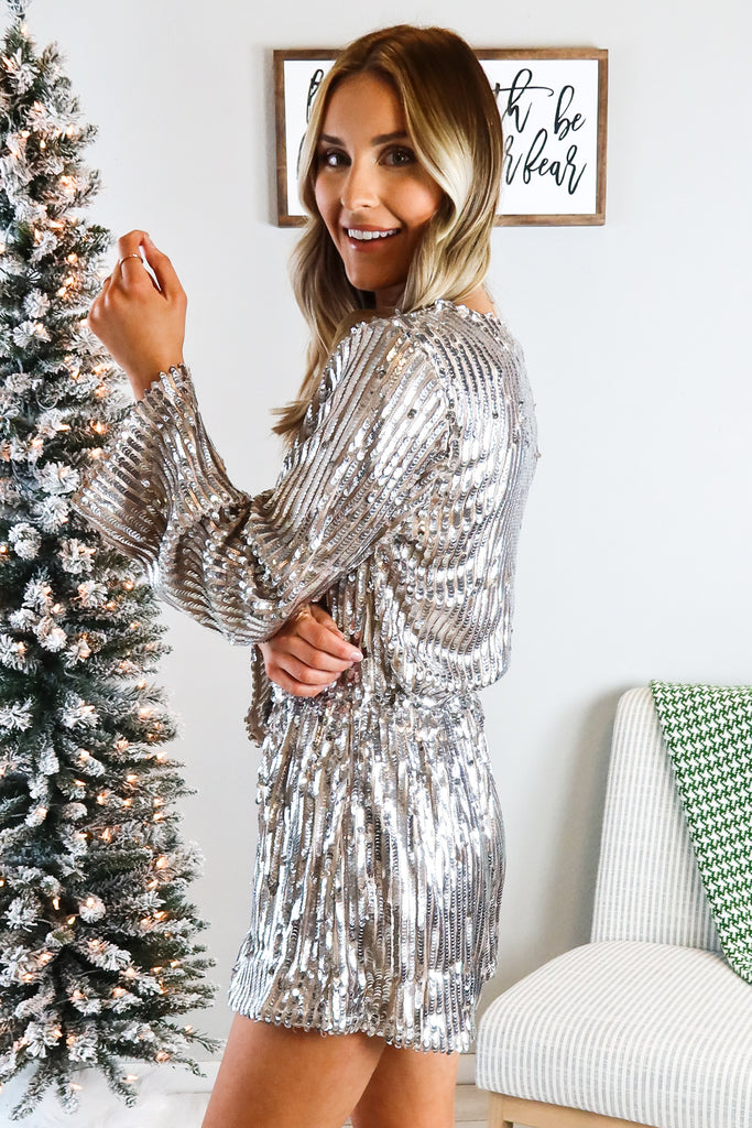 Flash Dance Sequin Romper