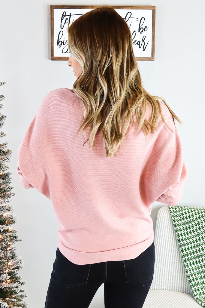 Faux Pearl Accent Sweater