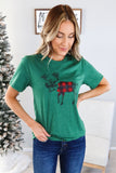 Buffalo Plaid Deer Graphic Tee
