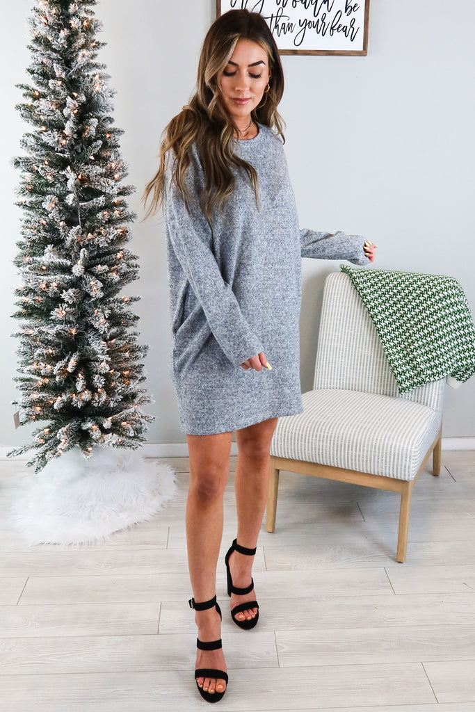 Belle Long Sleeve Sweater Dress - 2 Colors