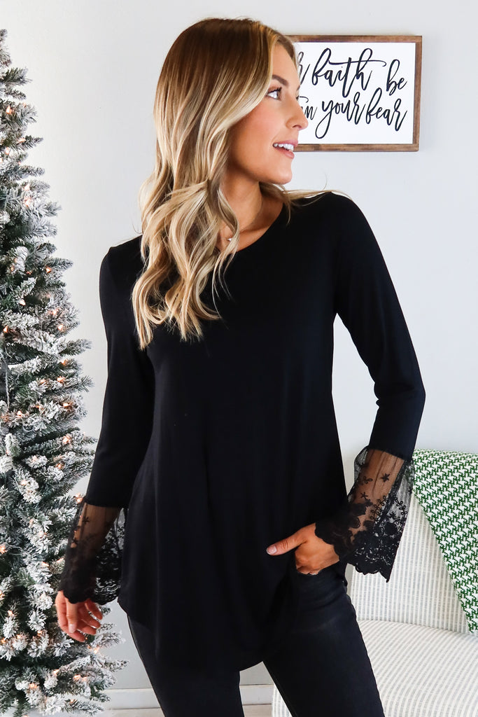 Buffy Lace Trim Top