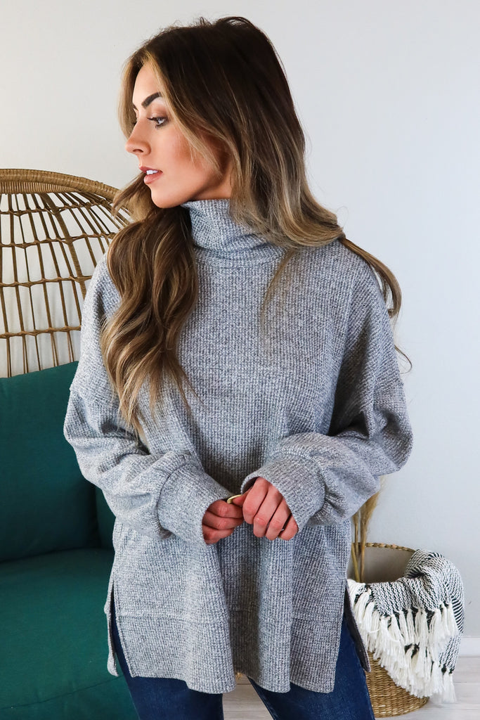 Thermal Turtle Neck Sweater - 2 Colors