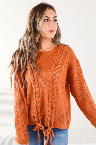 Rue Ribbed Turtle Neck Sweater