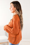 Braided Knit Sweater