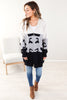 Abstract Colorblock Cardigan - 2 Colors