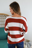 Magnolia Striped V Neck Sweater - 2 Colors