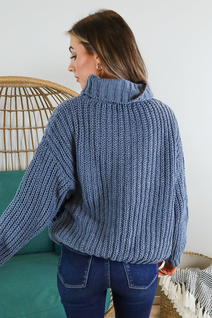 Chenille Turtle Neck Sweater - 2 Colors