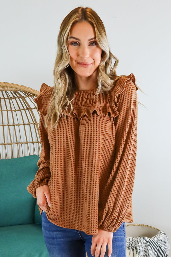 Pioneer Ruffle Top - 2 Colors