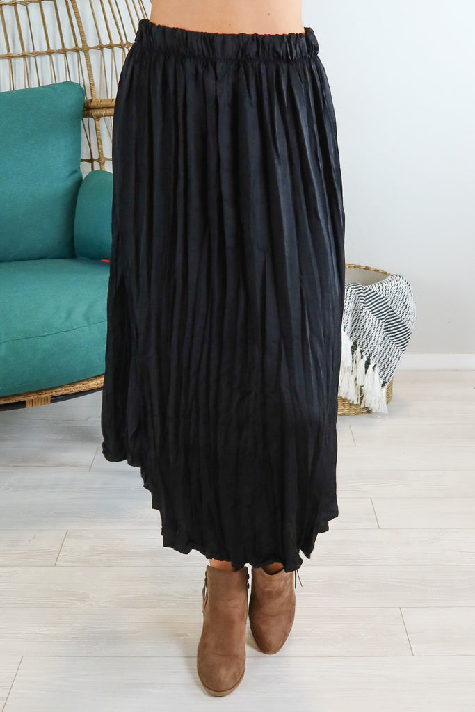 Pleated Midi Skirt - 2 Colors